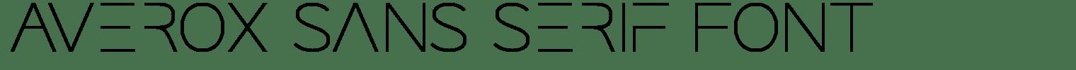 Averox Sans Serif Font