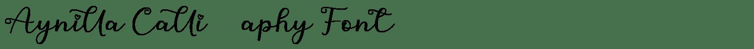 Aynilla Calligraphy Font