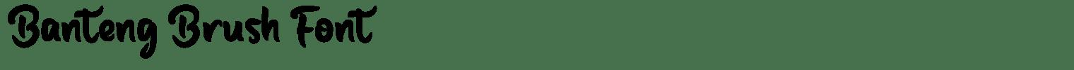 Banteng Brush Font