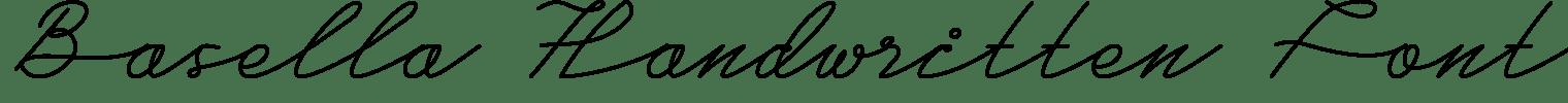 Basella Handwritten Font