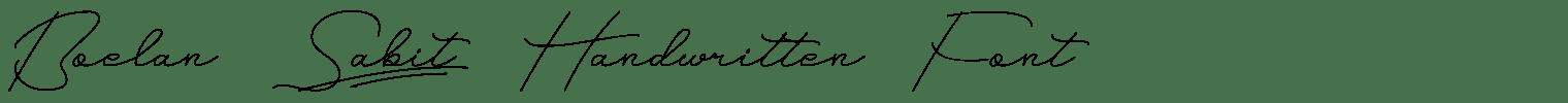 Boelan Sabit Handwritten Font