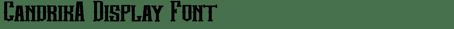 Candrika Display Font