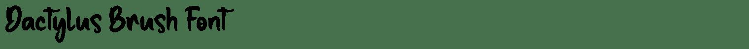 Dactylus Brush Font