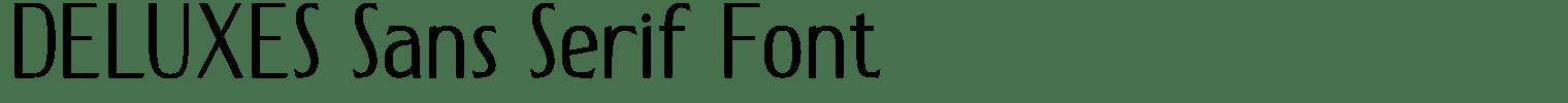 DELUXES Sans Serif Font