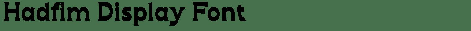 Hadfim Display Font