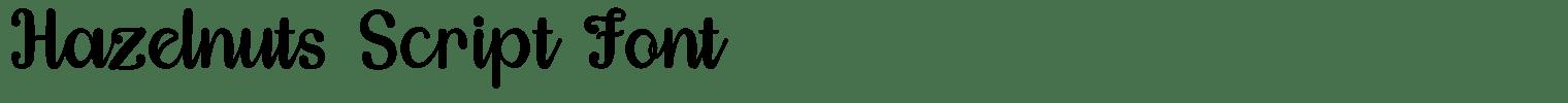 Hazelnuts Script Font