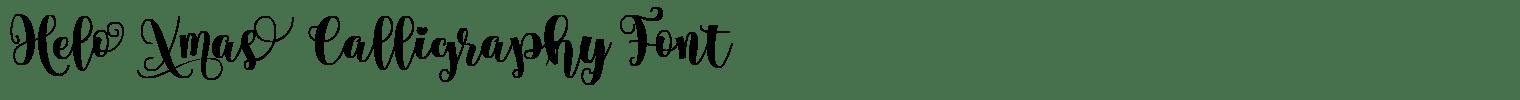 Helo Xmas Calligraphy Font