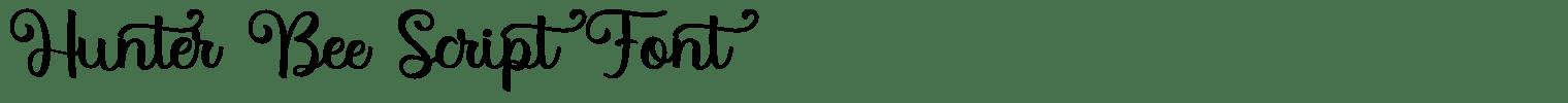 Hunter Bee Script Font