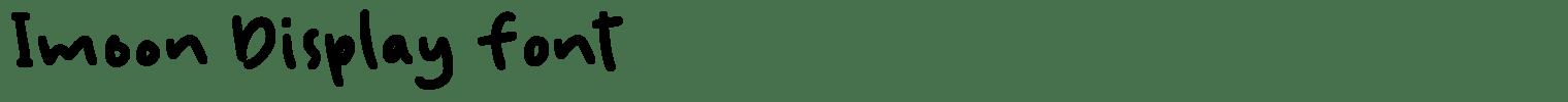 Imoon Display Font