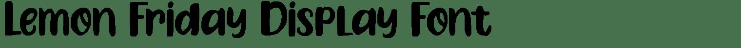 Lemon Friday Display Font