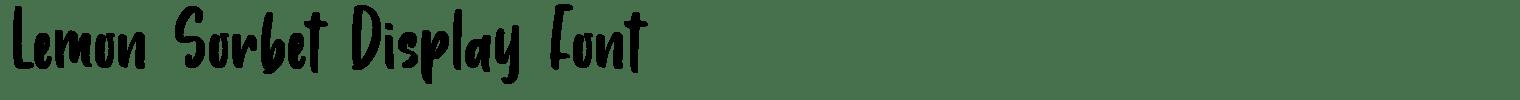 Lemon Sorbet Display Font
