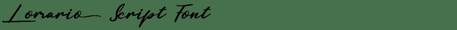 Lomario Script Font
