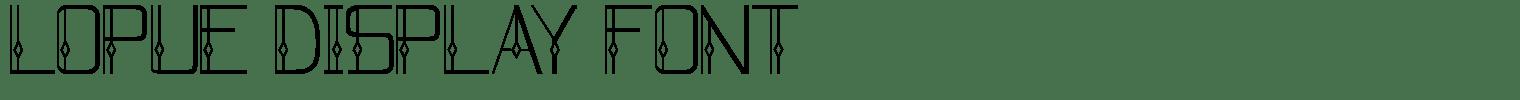 Lopue Display Font