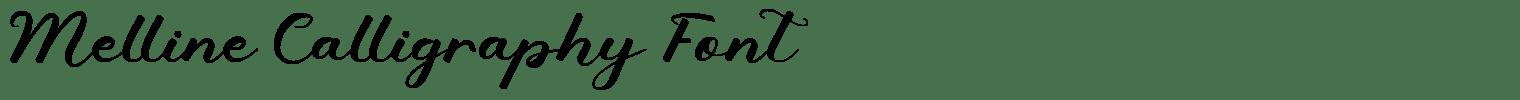 Melline Calligraphy Font
