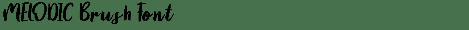 MELODIC Brush Font