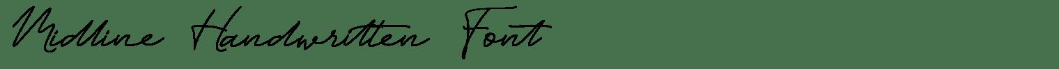 Midline Handwritten Font