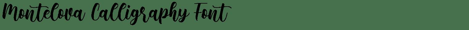 Montelova Calligraphy Font