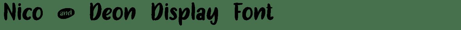 Nico and Deon Display Font
