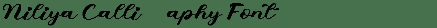 Niliya Calligraphy Font