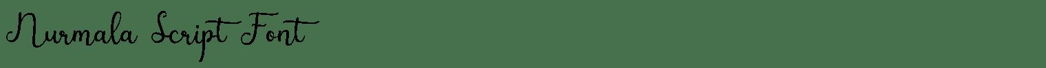 Nurmala Script Font