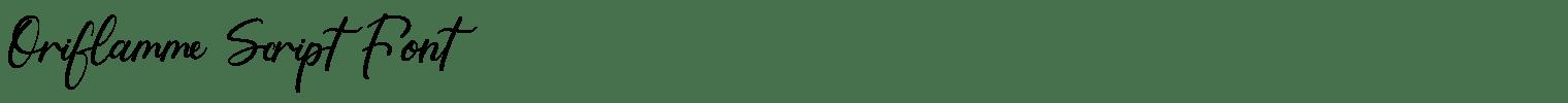 Oriflamme Script Font