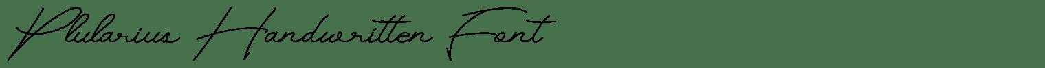 Plularius Handwritten Font