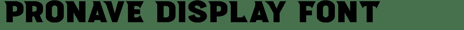 Pronave Display Font