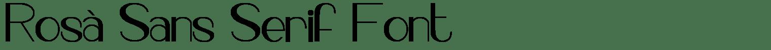Rosà Sans Serif Font