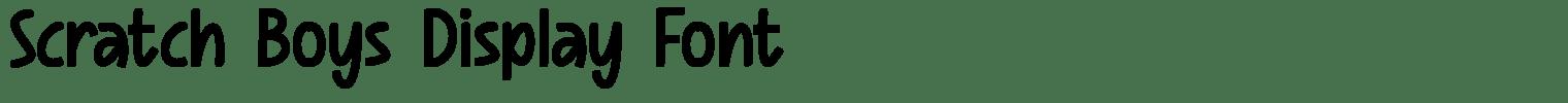 Scratch Boys Display Font