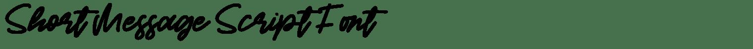 Short Message Script Font