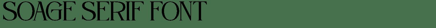 Soage Serif Font