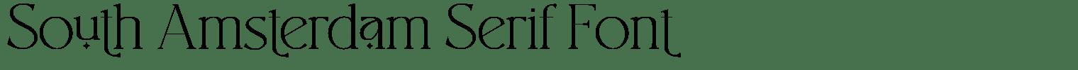 South Amsterdam Serif Font