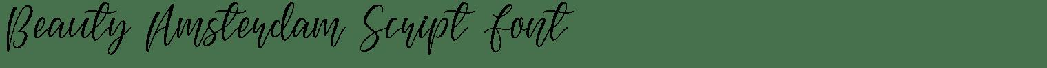 Beauty Amsterdam Script Font
