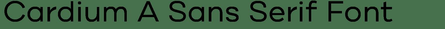 Cardium A Sans Serif Font