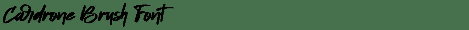 Cardrone Brush Font