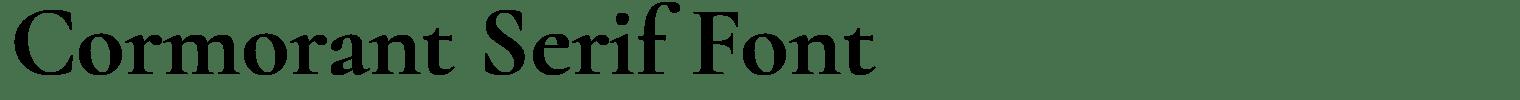 Cormorant Serif Font