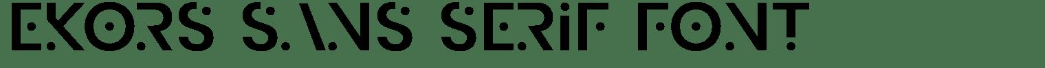 Ekors Sans Serif Font