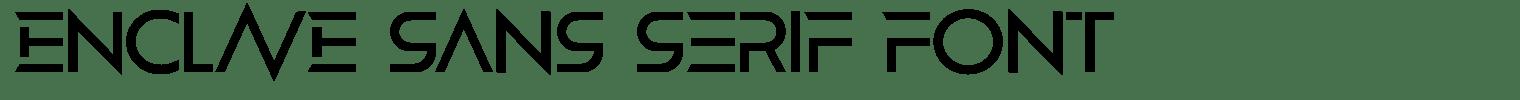 Enclave Sans Serif Font