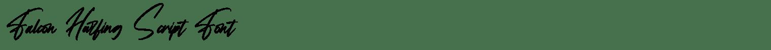 Falcon Harfing Script Font