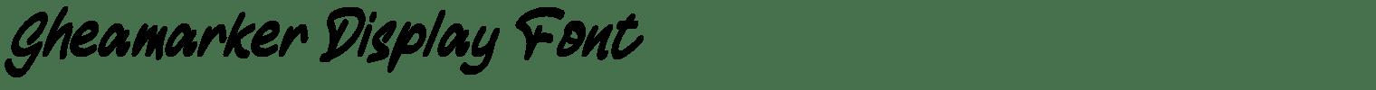 Gheamarker Display Font