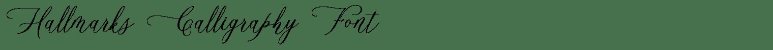 Hallmarks Calligraphy Font