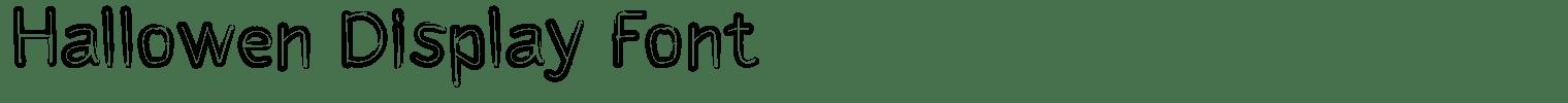Hallowen Display Font