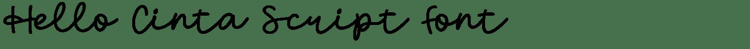 Hello Cinta Script Font