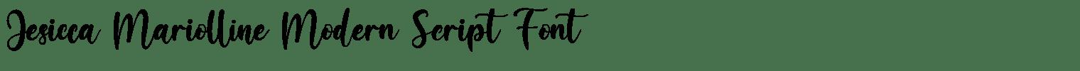 Jesicca Mariolline Modern Script Font