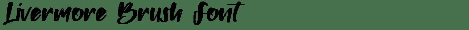 Livermore Brush Font