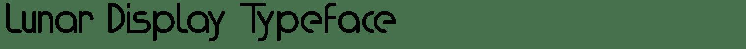 Lunar Display Typeface