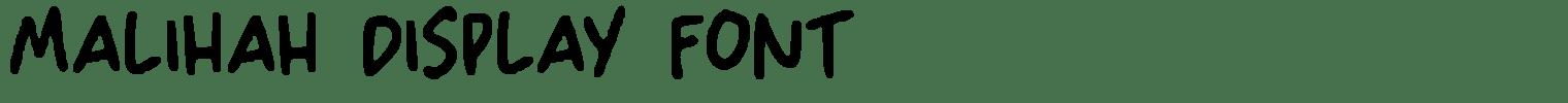 Malihah Display Font