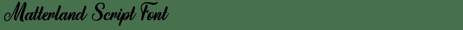 Matterland Script Font