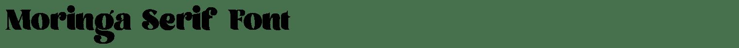 Moringa Serif Font