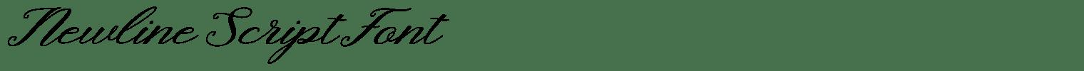 Newline Script Font
